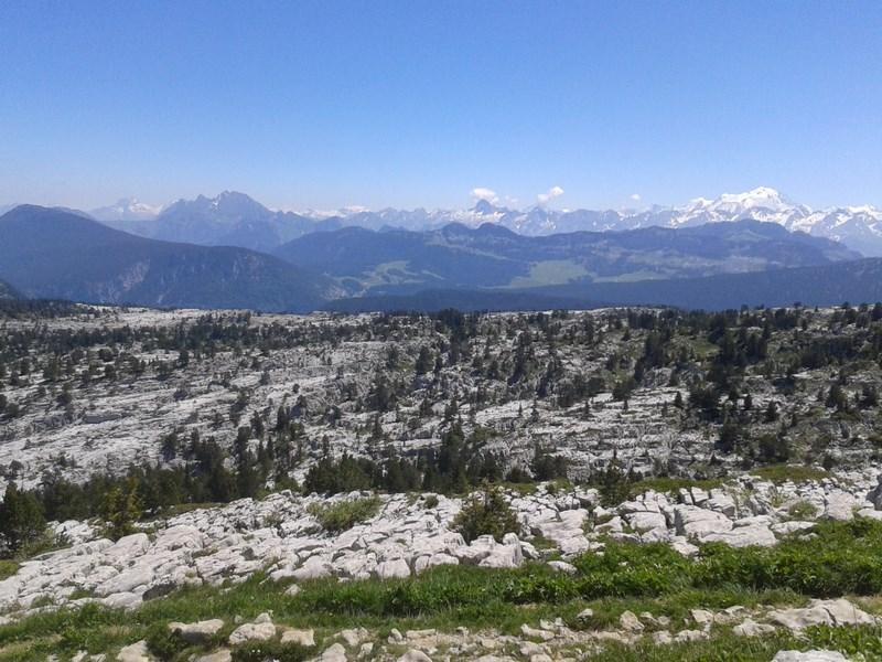 Parmelan et Mont Blanc